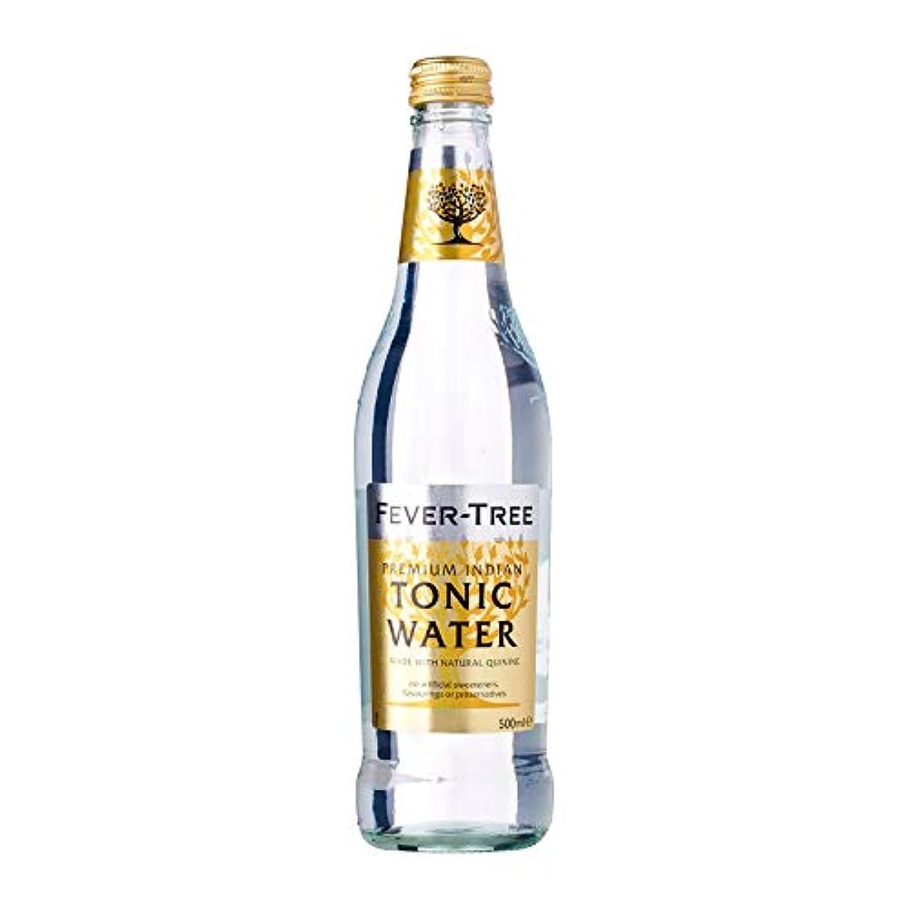 冷蔵する苦しむ雨Fever Tree Indian Tonic Water (500ml) 発熱ツリーインディアントニックウォーター( 500ミリリットル)