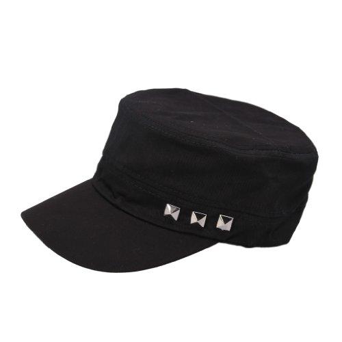 (ビグッド)Bigood ワークキャップ レディース 帽子 メンズ キャップ ダンス ベースボール キャップ スタッズ スポーツ カジュアル ブラック