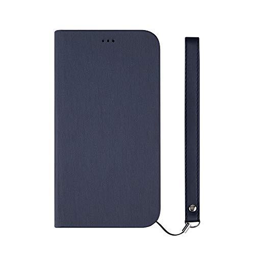 iPhone XR [FlipNote Slim] フリップノートケース ヘアラインネイビー Simplism TR-IP18M-FNS-HNV