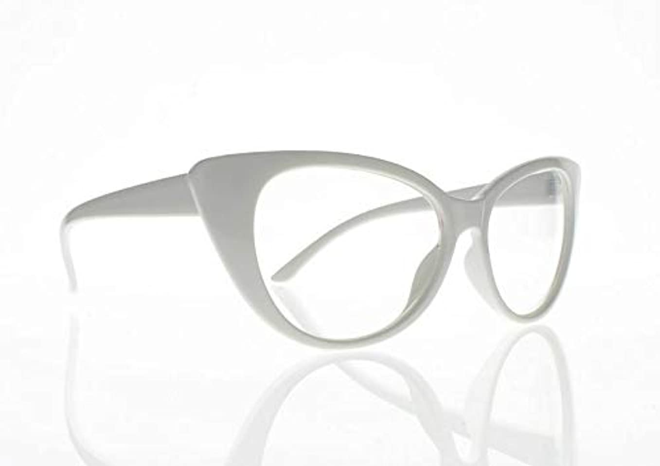 FidgetGear 女性レトロビンテージ猫目亀9色老眼鏡リーダー+ 1.0?+ 4.0 白