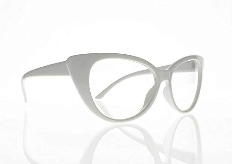 薄める比率仲人FidgetGear 女性レトロビンテージ猫目亀9色老眼鏡リーダー+ 1.0?+ 4.0 白