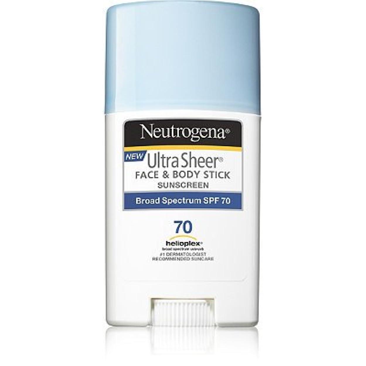 低い常習者自発Neutrogena 日焼け止め ニュートロジーナ FACE & BODY用スティックタイプ SPF70 [並行輸入品]