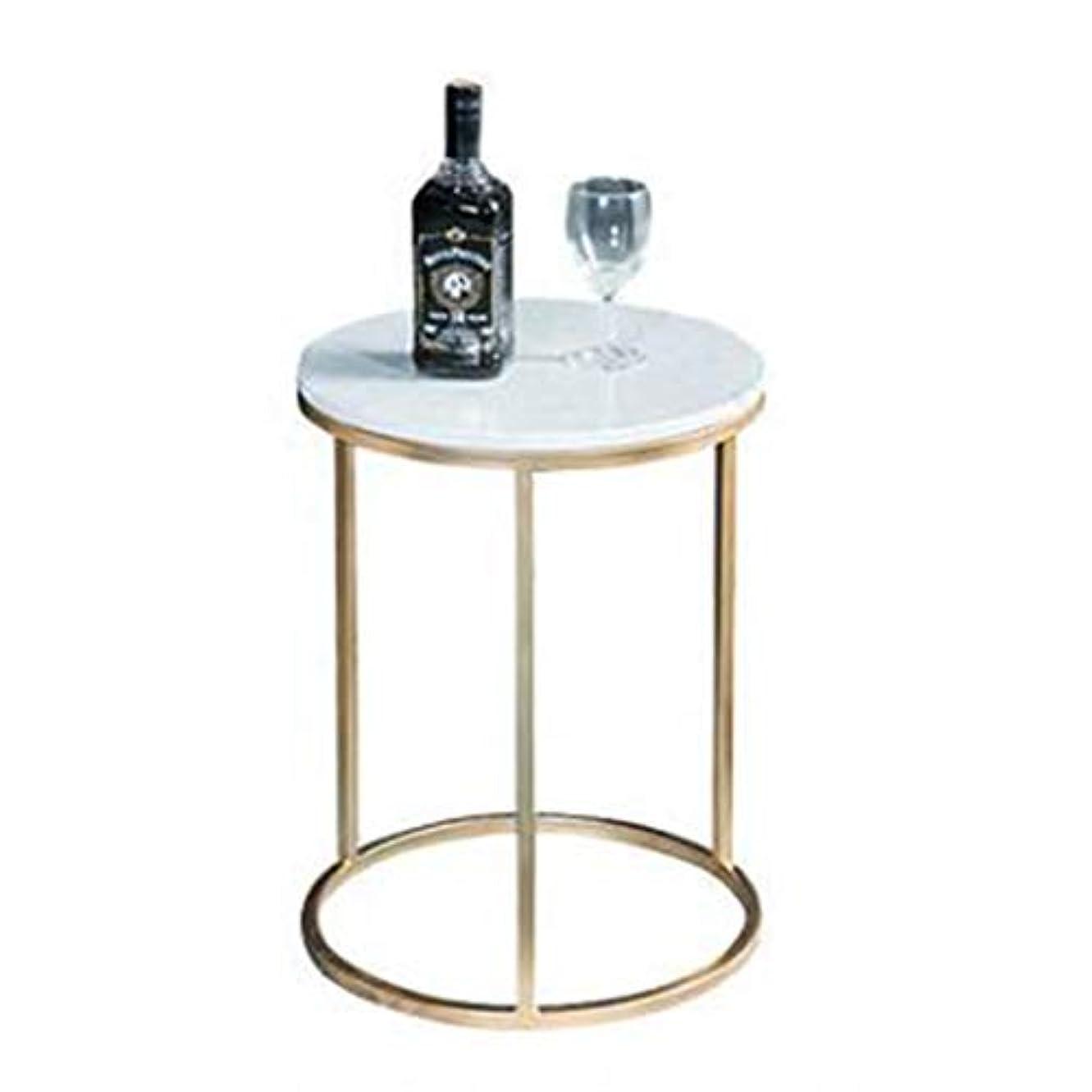 遅滞晩餐ニュージーランドコーヒーテーブルシンプルなラウンドコーナーコーヒーテーブルラウンド大理石のコーヒーテーブル研究オフィス、ホテル、寝室、ダイニングルーム、リビングルームのバルコニー、小さなコーヒーテーブル、サイズ:40 cm * 50 cm,Gold,50*40cm