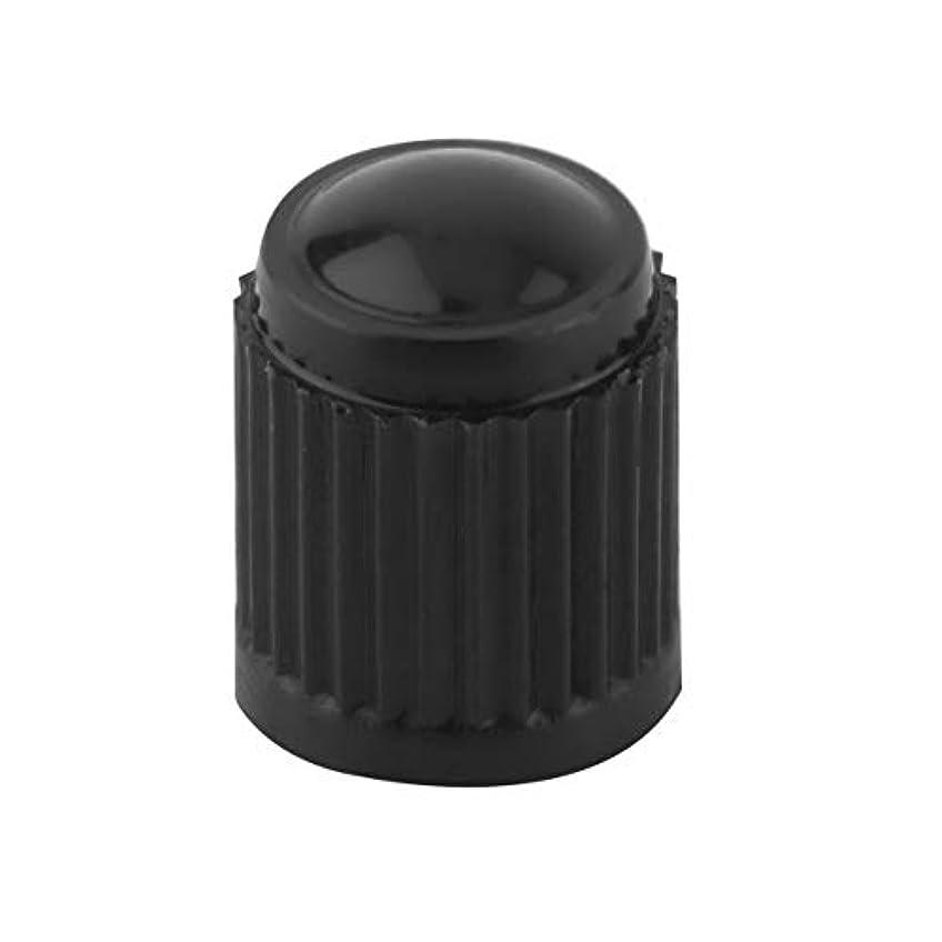 ライムリダクター章ユニバーサル黒いプラスチック製のバルブは、タイヤ車のトラックオートバイ自転車用キャップ
