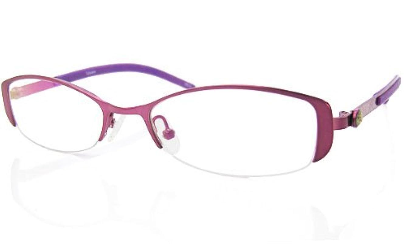 遠近両用メガネ (RSN) フラワーパターン 遠近両用メガネ (パープル)[全額返金保証]? 女性用 遠近両用メガネ 老眼鏡 シニアグラス (瞳孔間距離:63-65mm, 近用度数(書類):+2.0)