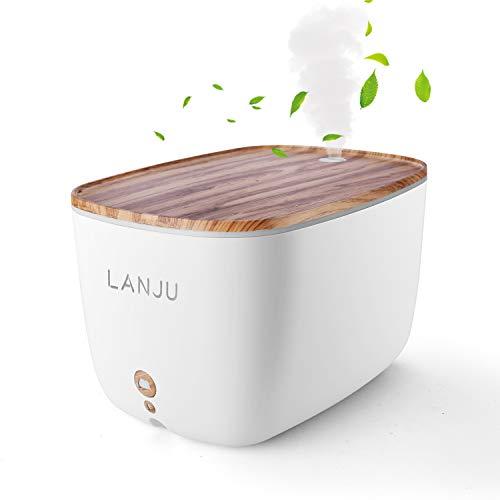 LANJU 加湿器 アロマディフューザー 超音波式 加湿空気清浄機 大容量2000ML 省エネ 空焚き防止 部屋/ヨガ対応