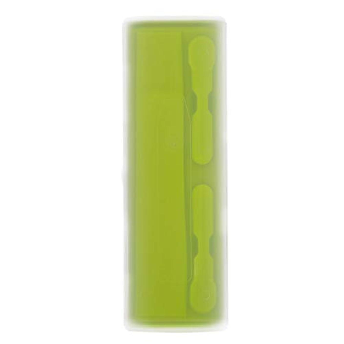部分的に農学表向きRETYLY 携帯用電動歯ブラシホルダーケースボックス旅行キャンプ Oral-Bに適合 4色(グリーン)