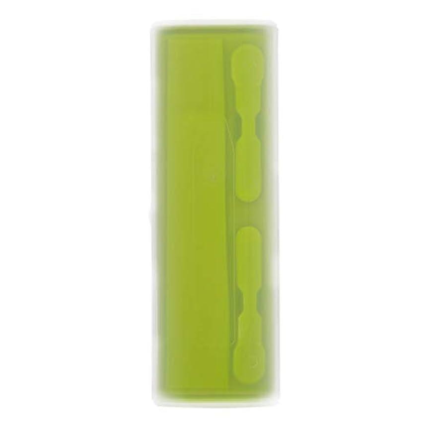 倒錯着飾るパズルRETYLY 携帯用電動歯ブラシホルダーケースボックス旅行キャンプ Oral-Bに適合 4色(グリーン)
