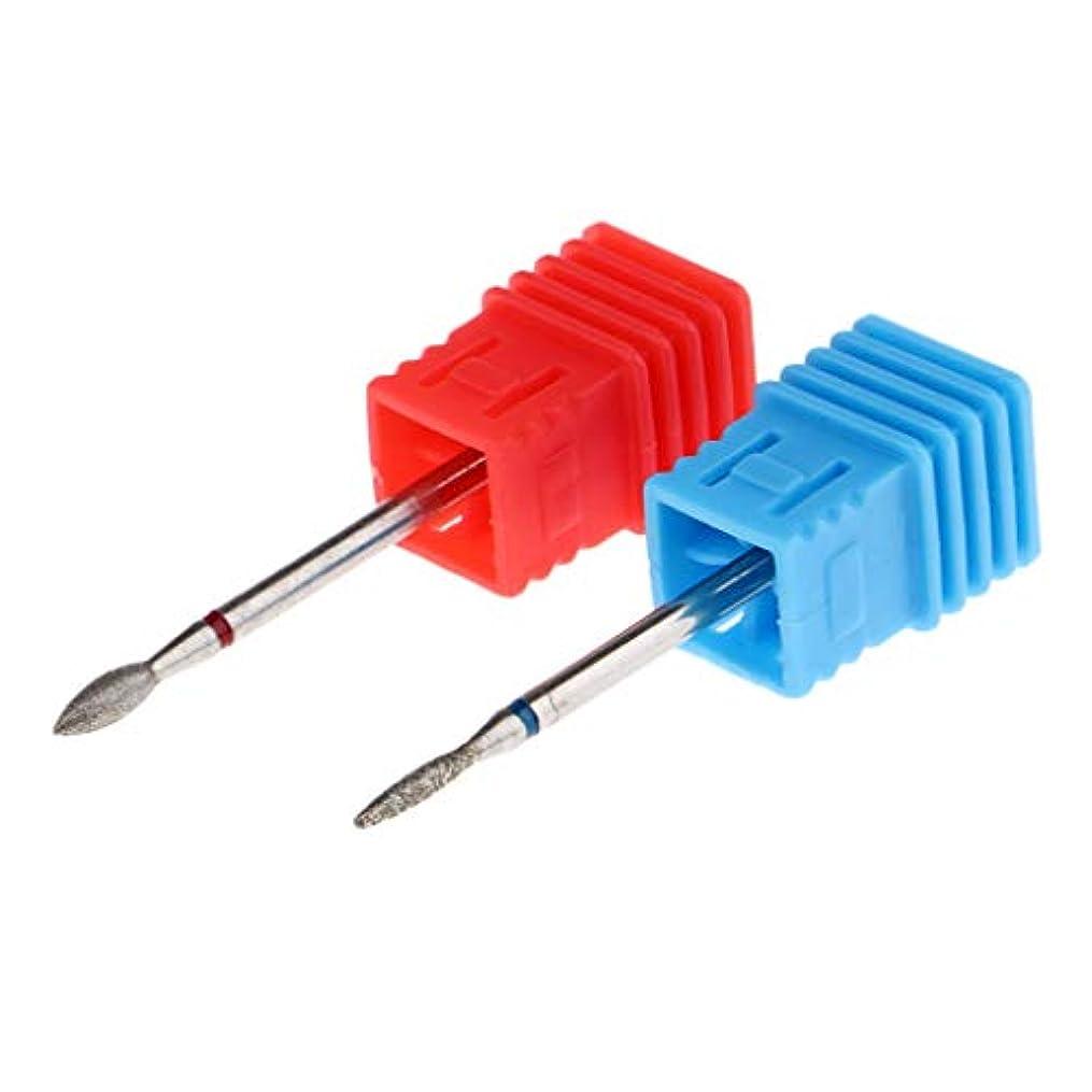 2本 ネイルドリルビット ネイルマシーン用 超硬ネイルドリルビット 電気ファイルバフツール 9色 - 01