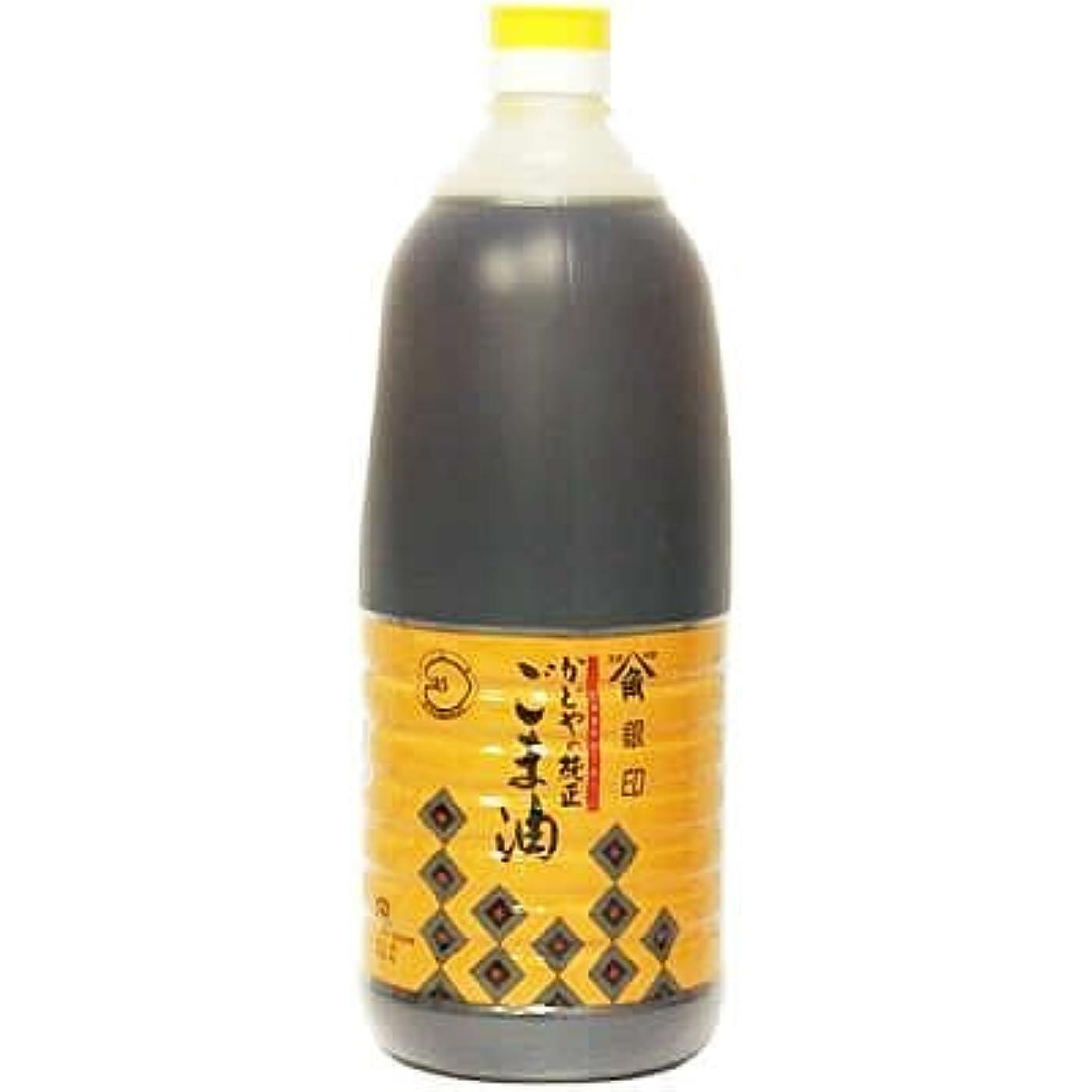 サラダニコチン刺すカドヤ銀印ごま油 濃口 1.65kg×6本
