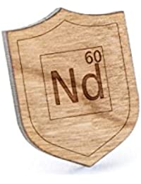 ネオジムラペルピン、木製ピンとタイタック|素朴な、ミニマルGroomsmenギフト、ウェディングアクセサリー
