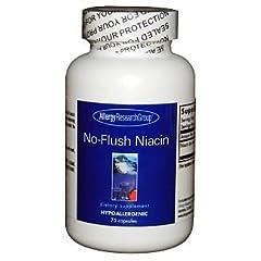 ナイアシン(ビタミンB3) ノーフラッシュ 1粒430mg入75カプセル【海外直送品】