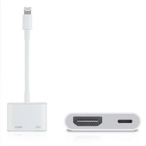 Lightning HDMI AV アダプター iPhoneの画面をテレビに映し出す ライトニングケ...