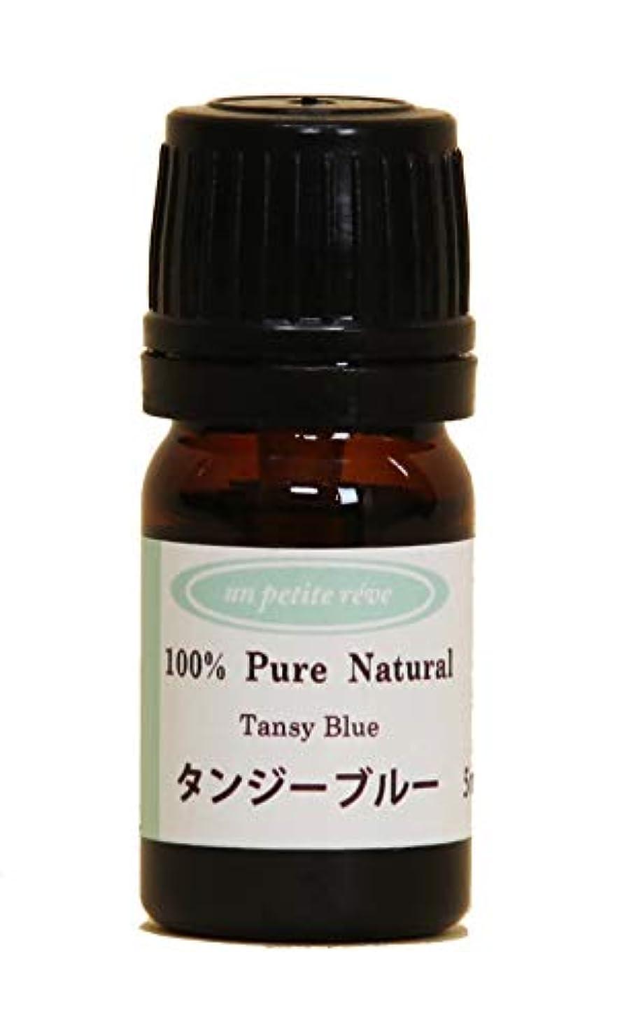 慣らす電極謙虚タンジーブルー 5ml 100%天然アロマエッセンシャルオイル(精油)