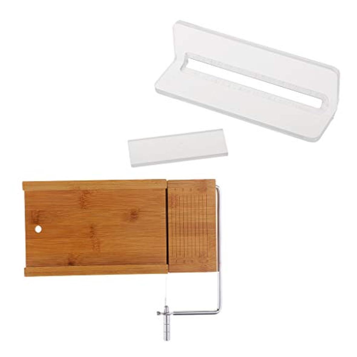 減衰クリップつぶやきチーズカッター 木製 ローフカッター ソープカッター ソープ包丁 3次元カット 2個入り