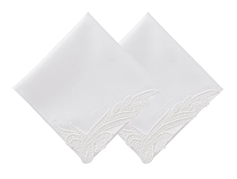 (ハグ ハンカチーフ)hugge handkerchief ハンカチ 白 レディース (ノーブル 2枚 セット) ブライダル 結婚式 ウェディング 冠婚葬祭