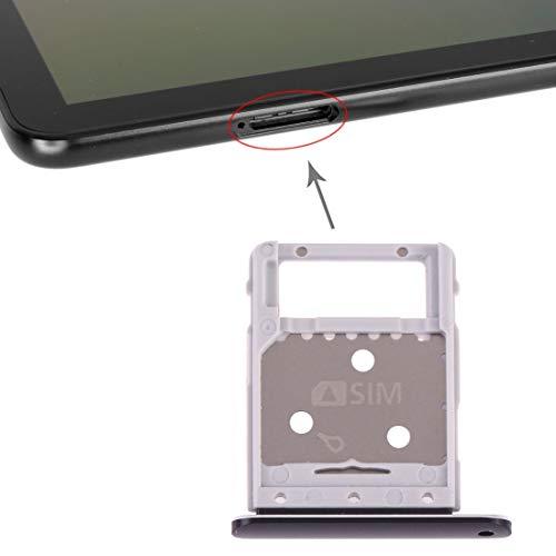 携帯電話の交換部品 SIMカードトレイ+ Galaxy Tab S4 10.5 T835用マイクロSDカードトレイ (色 : ブラック)