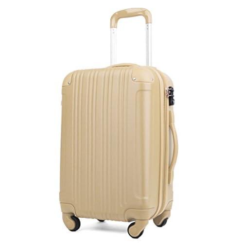 スーツケース (機内持込サイズ(1~3泊/33(拡張時40)L), シャンパンゴールド)