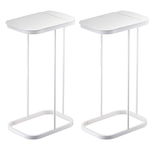 RoomClip商品情報 - 山崎実業 キッチンゴミ箱 分別ゴミ袋ホルダー ルーチェ 2個セット (ホワイト×ホワイト)