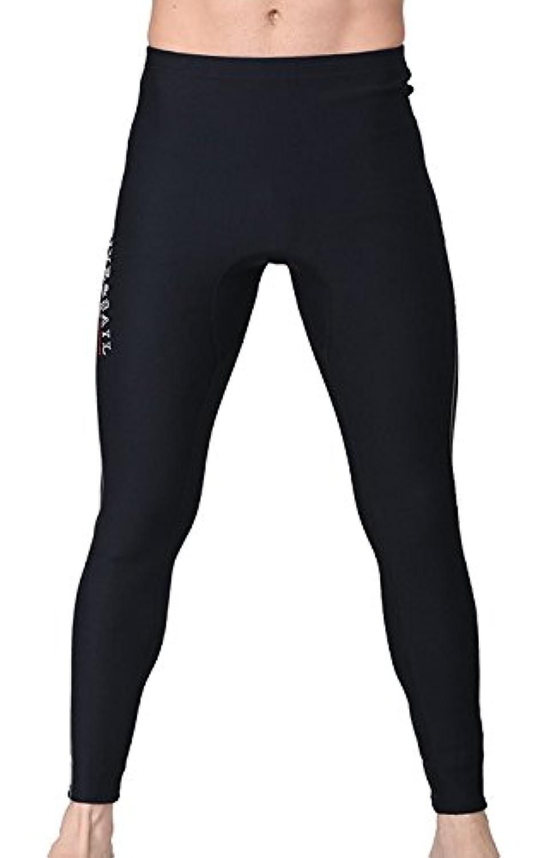 ウエットスーツ ロングパンツ メンズ 1.5mm/3mm ボレロ ウエットパンツ ネオプレーンパンツ ウェットスーツ生地 サーフィン ブラック