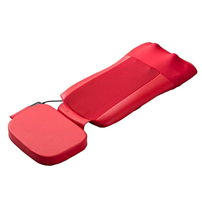 心臓トマト効果的スライヴ マッサージシート 【通販専用モデル】 寝て使用可能 たたき機能搭載 ストレッチコース付き レッド MD-8671 RE