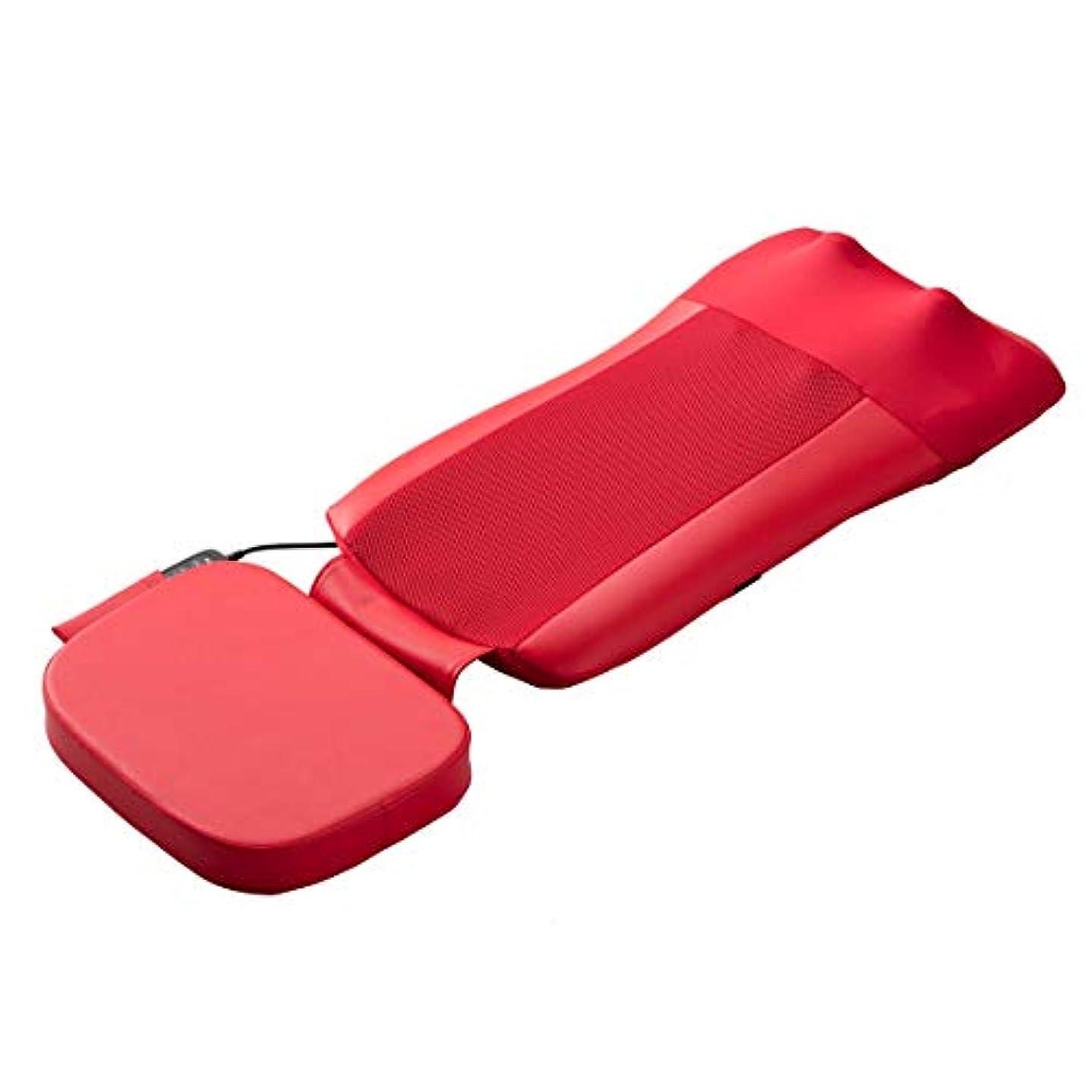 パッケージ百種類スライヴ マッサージシート 【通販専用モデル】 寝て使用可能 たたき機能搭載 ストレッチコース付き レッド MD-8671 RE