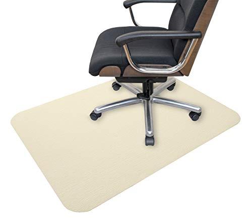 サンコー ズレない チェアマット おくだけ吸着 デスク 床保護マット 90×120cm クリーム