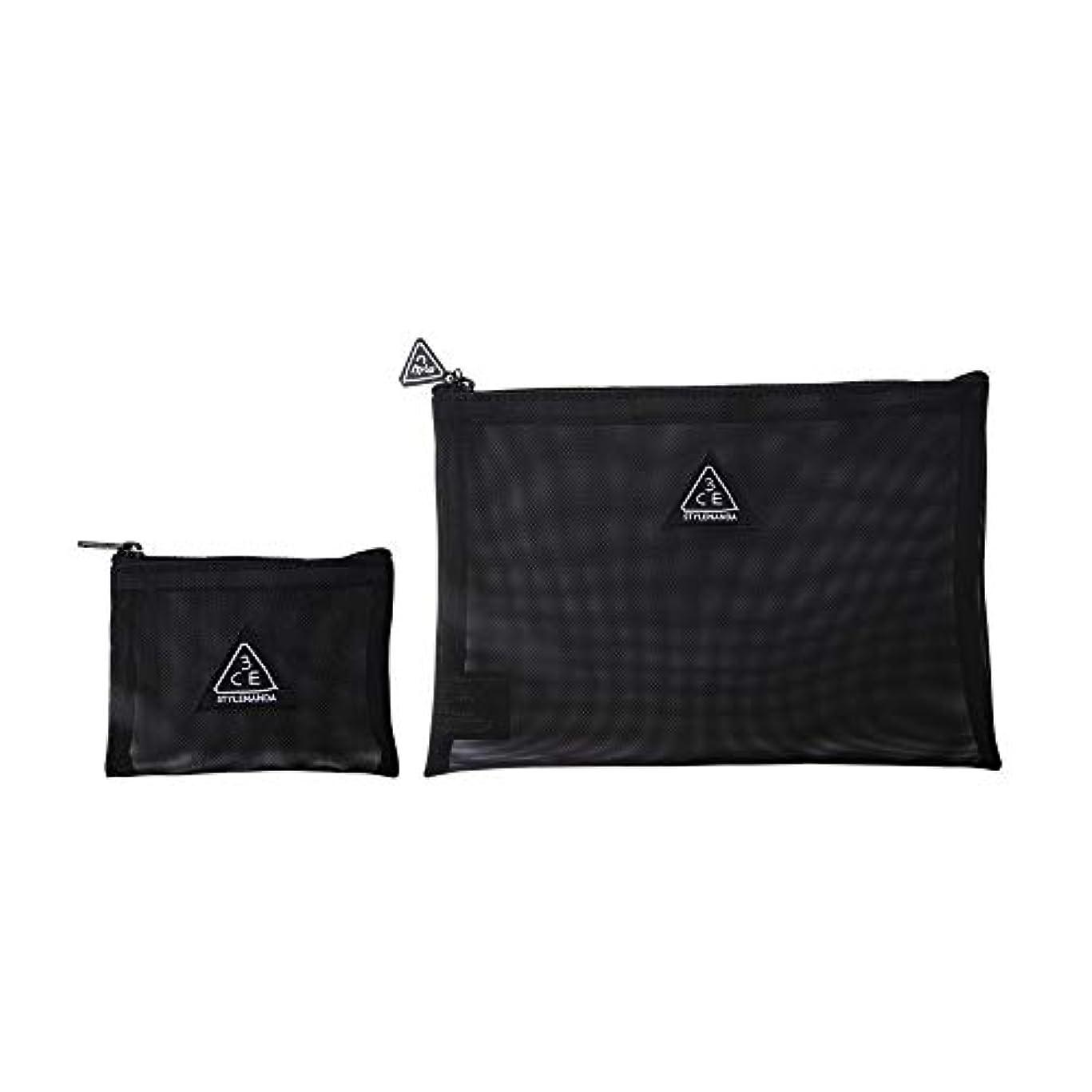マガジン徹底的に瞑想3CE メッシュ ポーチ(ブラック) / 3CE MESH POUCH (Black) [並行輸入品]