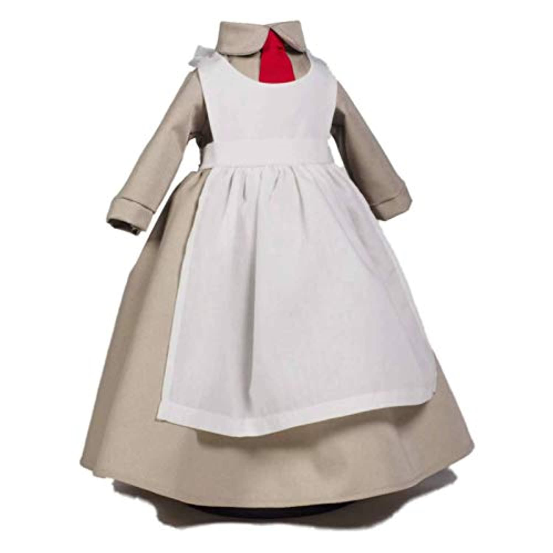 18インチ人形Salvation Army World War I Donut Girl Uniform Set Designed toフィット18インチアメリカンガール人形Clothes & Accessories。HistoricドーナツGirlベージュトープドレスwithホワイトエプロン。