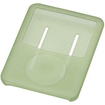 GREEN HOUSE 第3世代iPod nano用シリコンケース グリーン 液晶保護フィルム・ネックストラップ付属 GH-CA-IPOD3NG