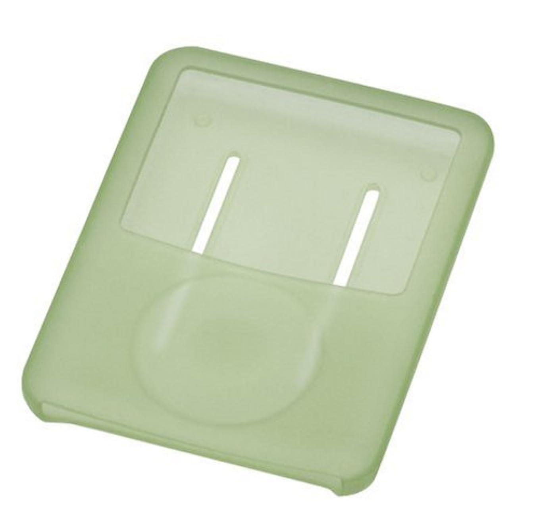 効率的明確ないうGREEN HOUSE 第3世代iPod nano用シリコンケース グリーン 液晶保護フィルム?ネックストラップ付属 GH-CA-IPOD3NG