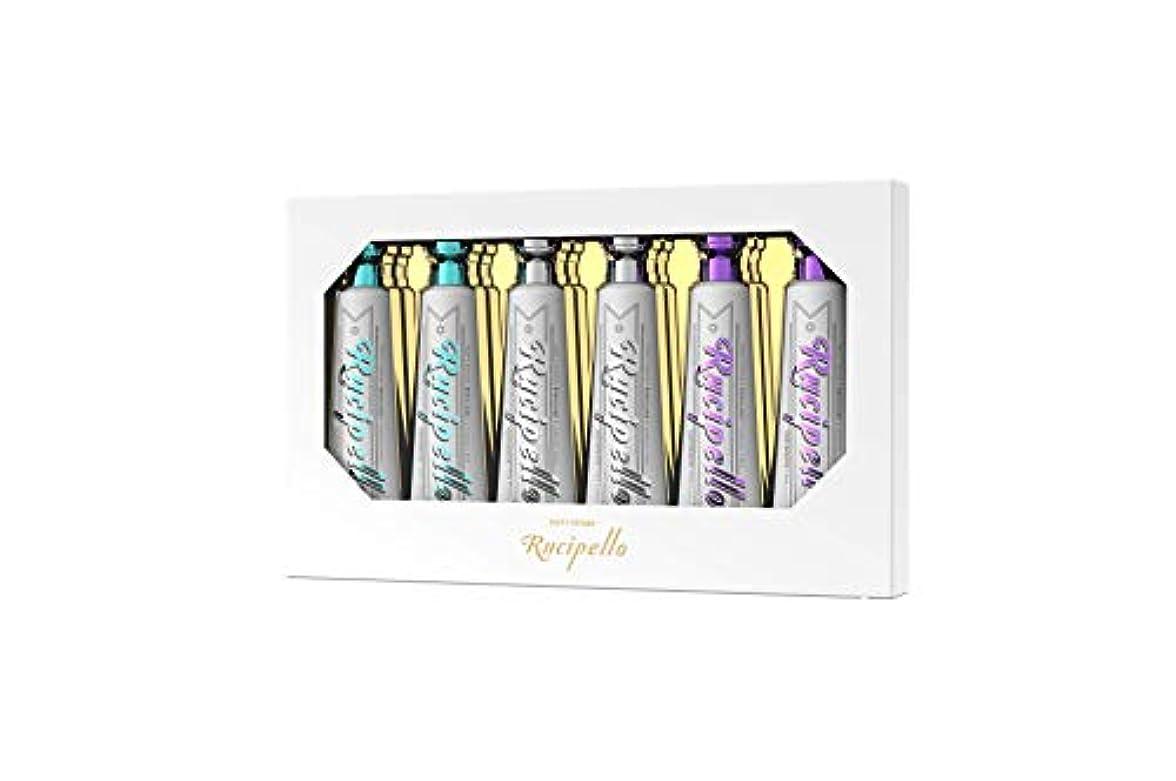 姿勢でも愛[ルチペッロ] Rucipello ミニ歯磨き粉6個のプレゼントセット 25g x 6本 (海外直送品)