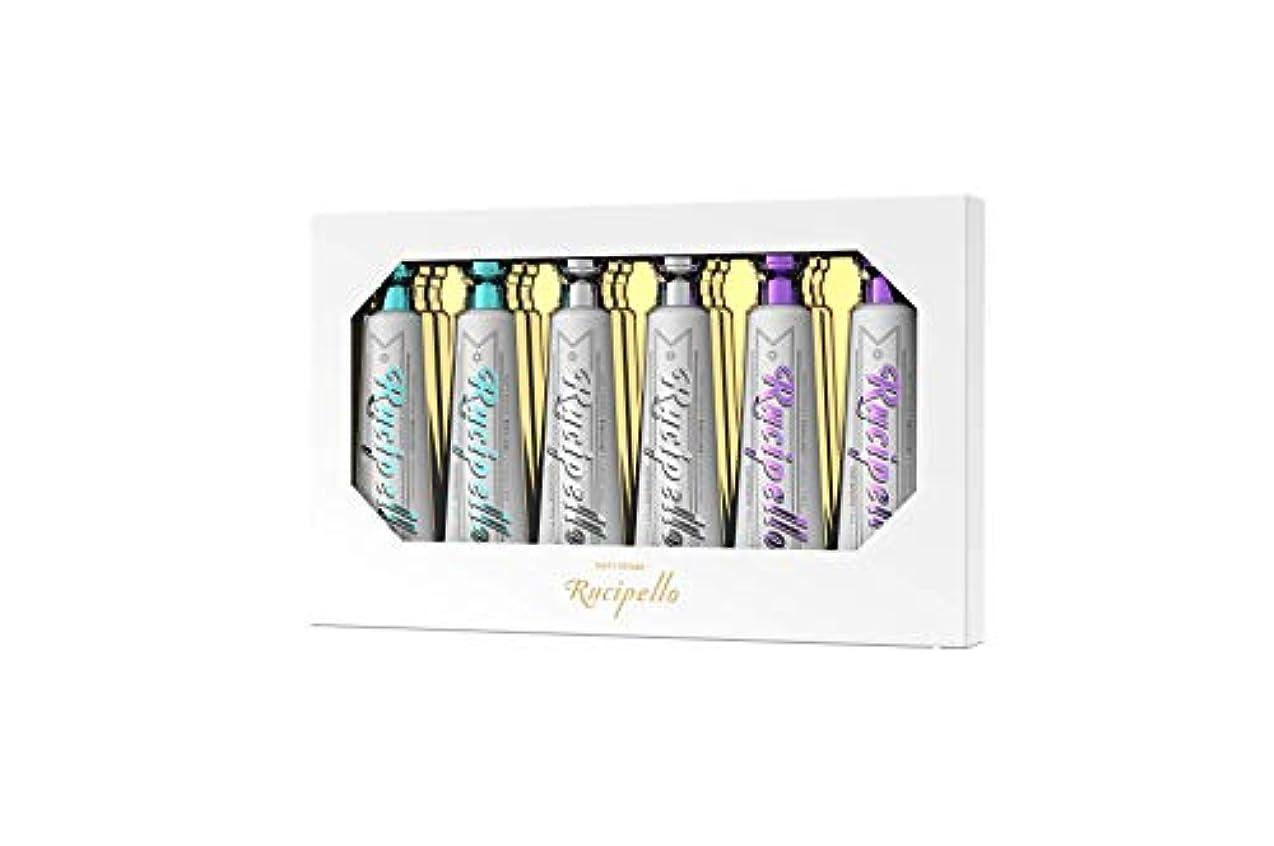 練習したお互い集団[ルチペッロ] Rucipello ミニ歯磨き粉6個のプレゼントセット 25g x 6本 (海外直送品)