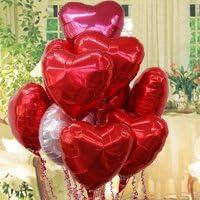 即日発送対応 結婚式 選べる定型文カード付 バルーン電報 【 Whole_Lotta_Love 10ハーツ 】(お二人の未来が素晴らしい 編) ヘリウムガス入り10個
