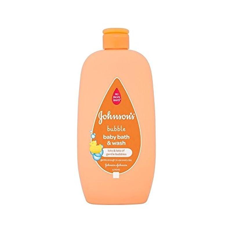 群衆干ばつ階下2In1は泡風呂&500ミリリットルを洗います (Johnson's Baby) (x 6) - Johnson's Baby 2in1 Bubble Bath & Wash 500ml (Pack of 6) [並行輸入品]