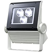 岩崎 LEDioc FLOOD NEO(レディオック フラッド ネオ) LED投光器 60クラス 狭角タイプ 白色タイプ 本体色:ホワイト LED一体形 ECF0698W/SAN8/W ※受注生産品