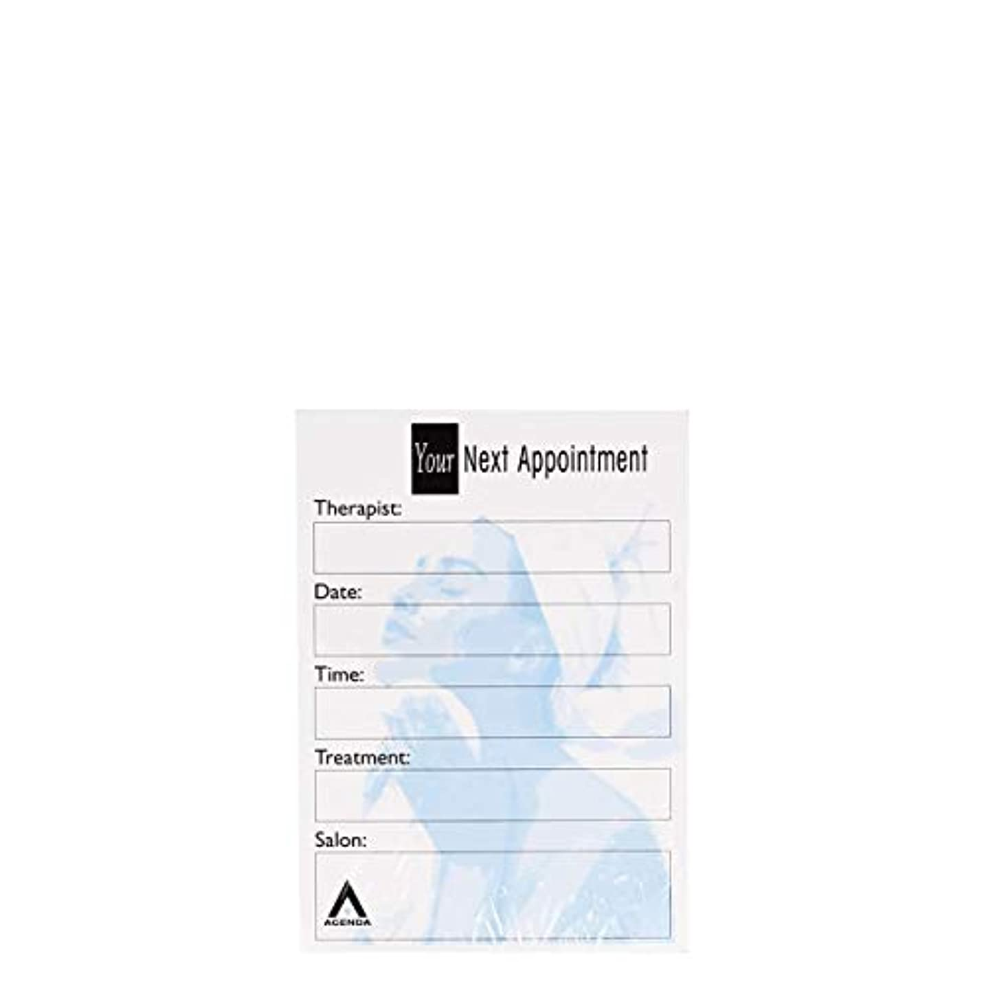 風変わりなビン持参アジェンダ サロンコンセプト ネイルアポイントメントカードAP7B x100[海外直送品] [並行輸入品]