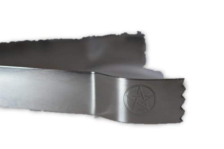 ケニアローン憂鬱なSTAR Engraved Tongs for use withチャコールタブとIncense樹脂tool-ツールfor Blessings、クリア負Energies、しみ、Healing