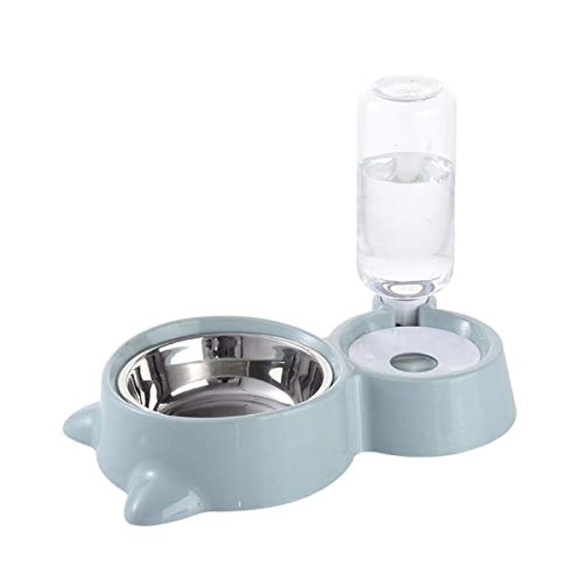 Xian ステンレス製のドッグボウル、ダブルボウル、ピンク、薄灰色、スカイブルー、3色 Easy to Clean Non-Skid Bowls for Dogs (Color : Sky blue)