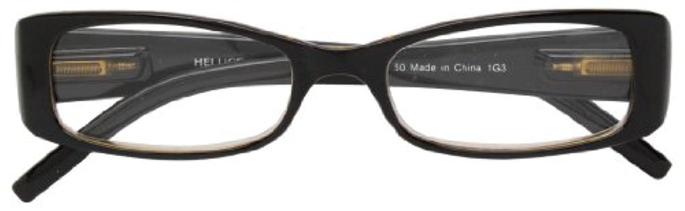 誇張する四半期引き付けるエニックス 老眼鏡 +1.5 度数 HELLIGE ブラック × クリアブラウン HE-1108-1+1.5