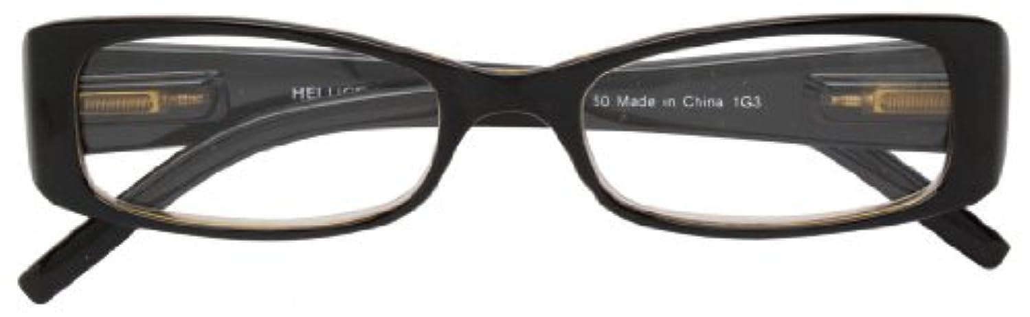 統合しなければならないお祝いエニックス 老眼鏡 +2.5 度数 HELLIGE ブラック × クリアブラウン HE-1108-1+2.5
