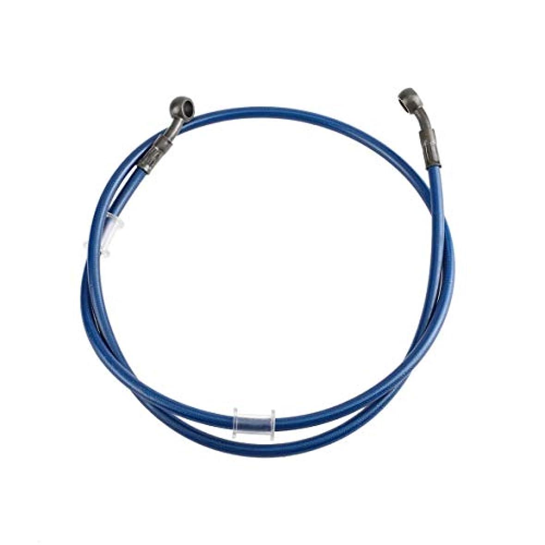 額熟達ユニバーサルバイクブレーキパイプ編組鋼油圧補強ブレーキクラッチオイルホースラインパイプチューブレーシングダートバイク用-ブルー