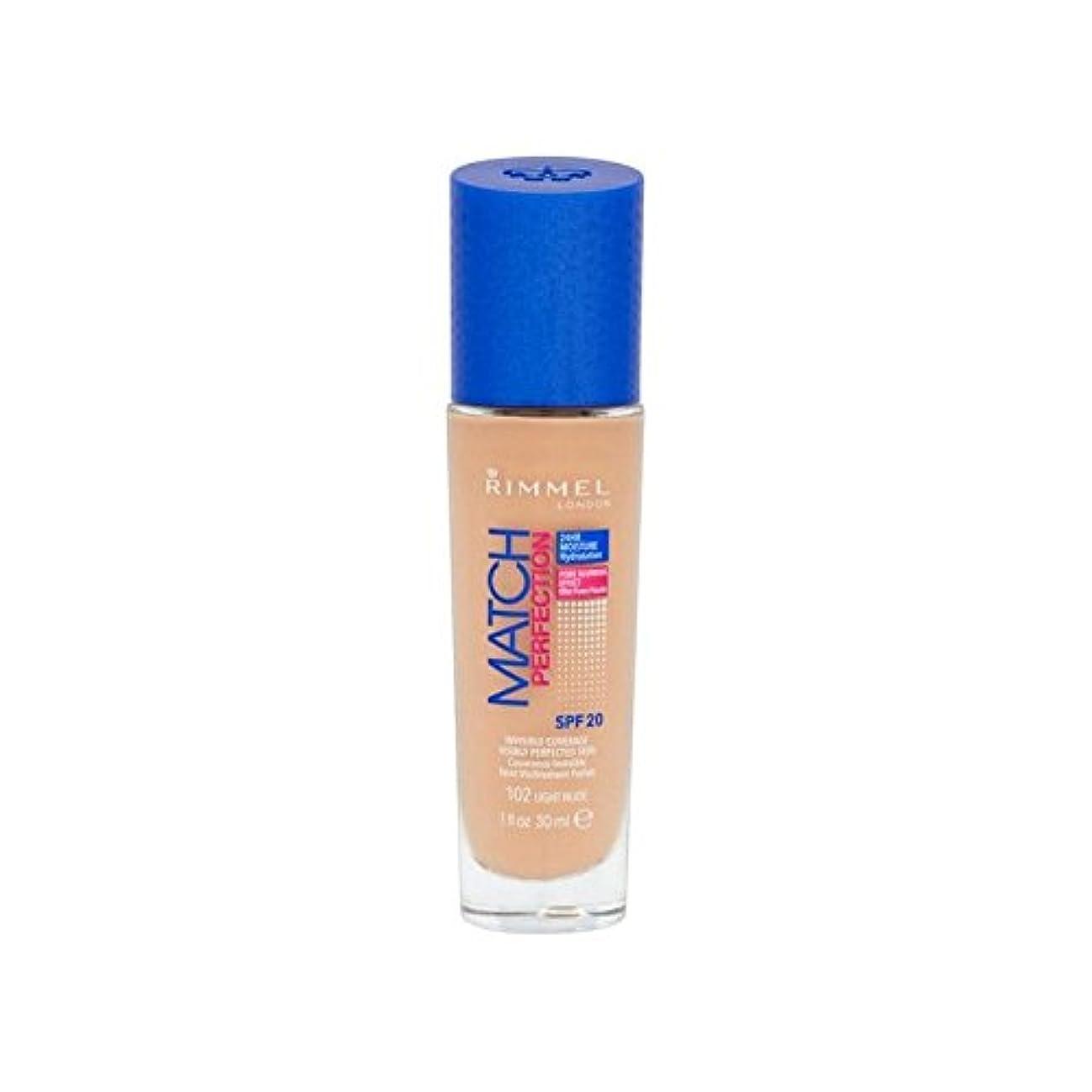 制限血統百年Rimmel Match Perfection Foundation Light Nude - ヌードリンメルマッチ完璧基礎ライト [並行輸入品]
