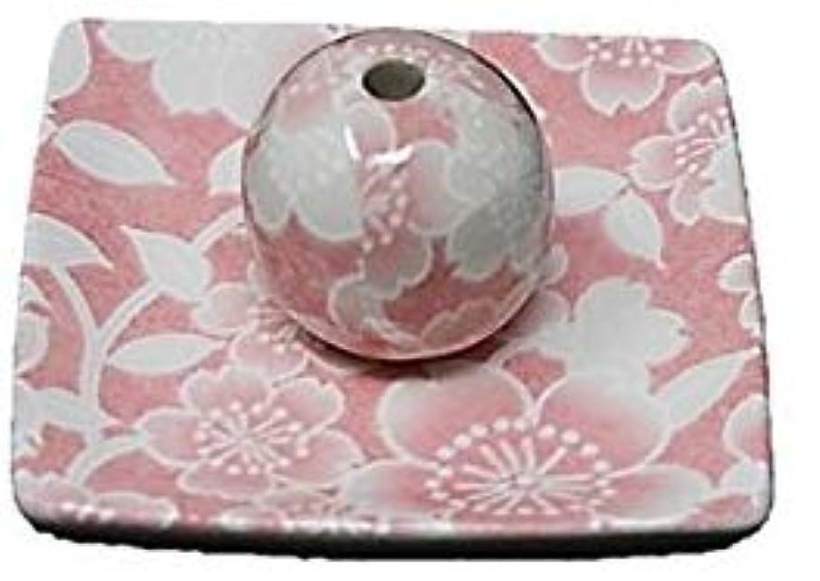 記者新しい意味カウント桜友禅 ピンク 小角皿 お香立て 陶器 ACSWEBSHOPオリジナル