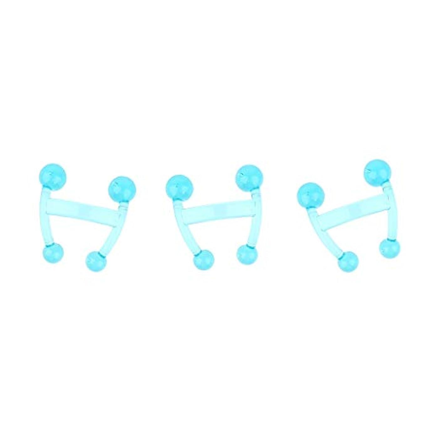 スキャンダラス連結するアラブHellery 3本ディープティッシュマッサージパームマッサージツールトリガーポイント鍼治療ツール