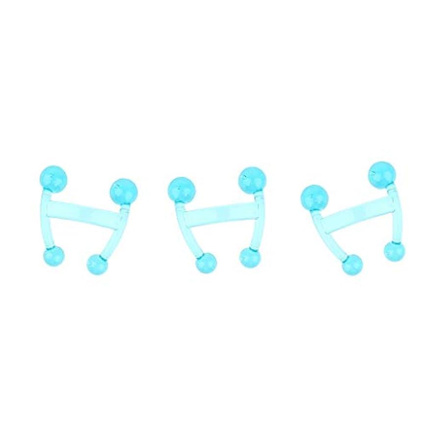 栄光伝える寸前Hellery 3本ディープティッシュマッサージパームマッサージツールトリガーポイント鍼治療ツール