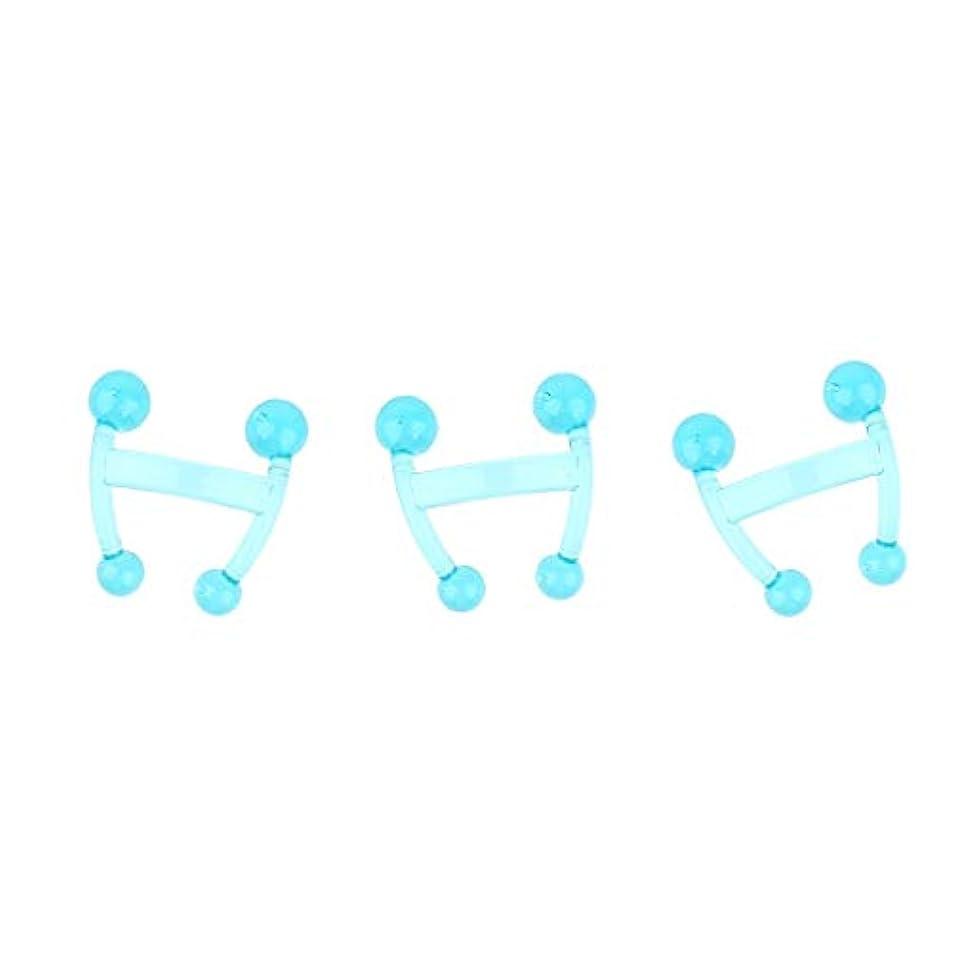 俳句なめらか控えるsharprepublic 3ピース/個バックネックボディ指圧トリガーポイントマッサージ用4ノブマッサージャー