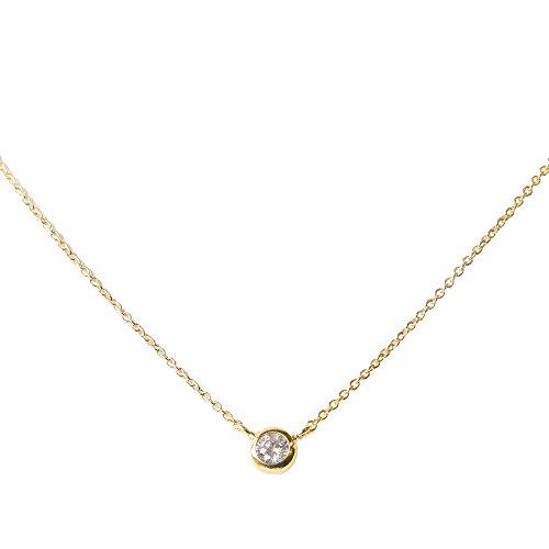 [해외]니켈 무료 큐빅 서클 모티브 목걸이 금속 알레르기 JewelVOX (보석 상자)/Nickel Free Cubic Zirconia Circle Motif Necklace Metall Allergy Support JewelVOX (Jewel Box)