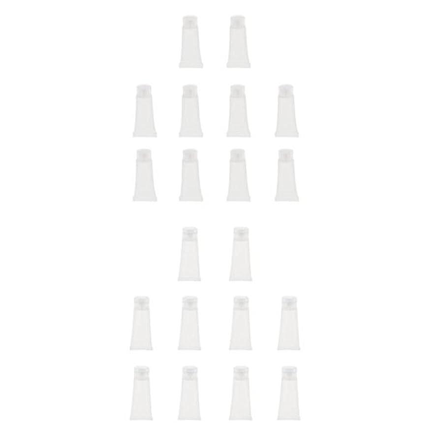 リブアクロバットHomyl 20個 クリームチューブ コスメ 詰替え 空チューブ 石鹸 シャンプー クリーム 歯磨き粉 DIY 旅行小物 便利