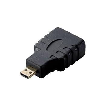 エレコム 変換アダプタ HDMI(タイプA)メス-HDMI Micro(タイプD)オス ブラック AD-HDAD3BK